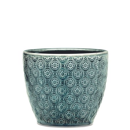 Cachepot Verde em Ceramica