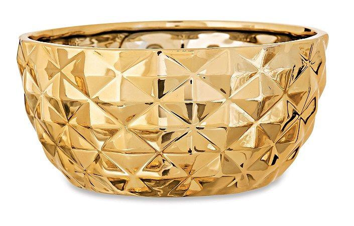 Cachepot Dourado em Ceramica M