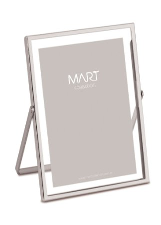 Porta Retrato Prata em metal 10X15
