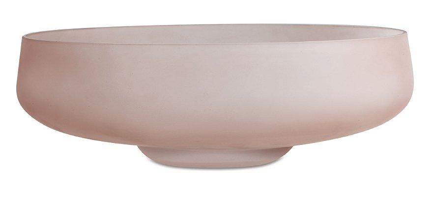 Centro de mesa nude em vidro