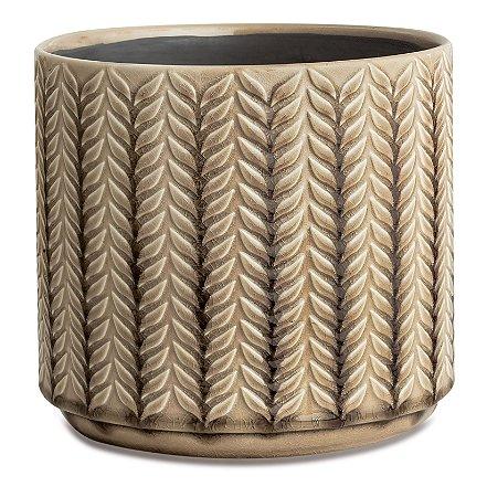 Cachepot cinza em ceramica G