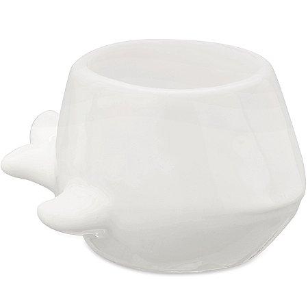 Cachepot Baleia Branco em ceramica
