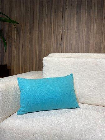 Almofada de rim lisa azul