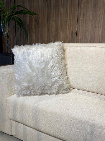 Almofada decorativa Branca de pelo