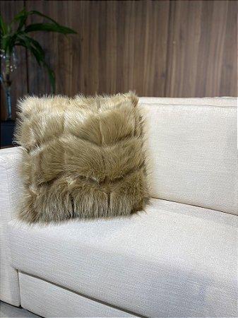 Almofada decorativa Marrom de pelo
