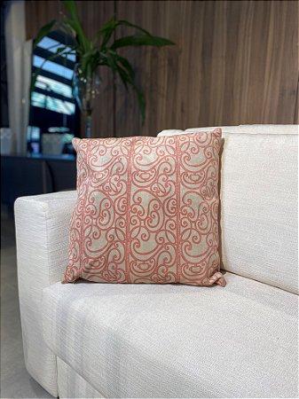Almofada Decorativa Branco com rosa