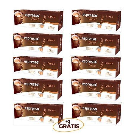 kit Promocional 100 cápsulas de café aroma Canela + 20 grátis  compatível Nespresso