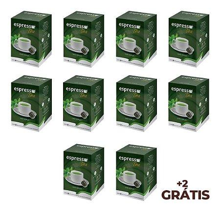 kit Promocional 100 cápsulas de Cha verde + 20 grátis compatível Nespresso