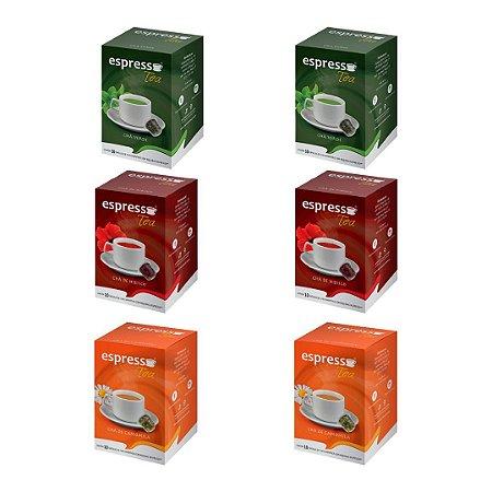 kit Promocional 60 cápsulas de Cha sortidas compatível Nespresso