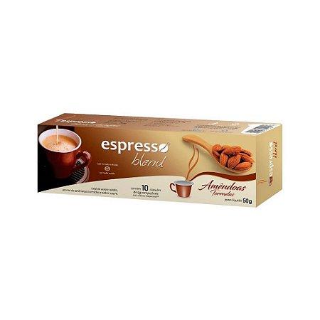 Cápsulas de café aroma Amêndoas torradas com 10 unidades compatível Nespresso