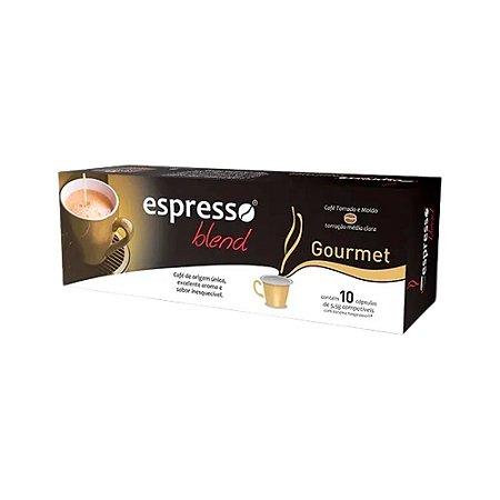 Cápsulas de café  Gourmet com 10 unidades compatível Nespresso