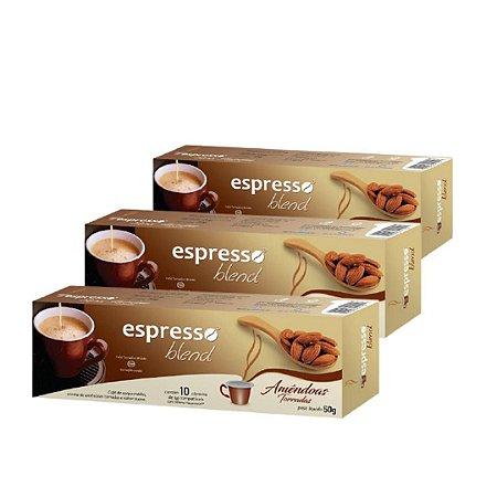 30 cápsulas aroma Amêndoas torradas compatível Nespresso