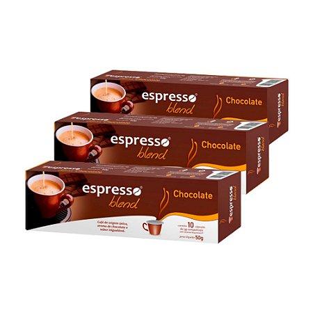 30 cápsulas aroma chocolate compativel Nespresso