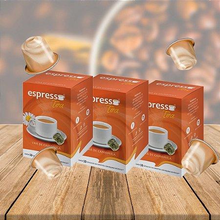 Kit 3 cxs c/10 cápsulas de Chá cada cx compatível Nespresso sabor Camomila