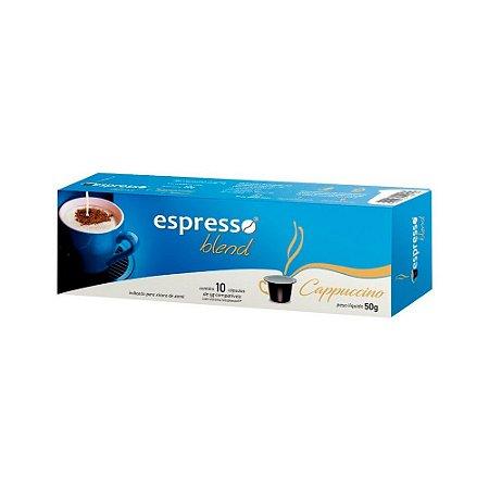 Cápsulas de capuccino com 10 unidades compativel nespresso