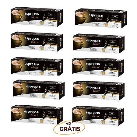 Kit 100 cápsulas de café aroma Gourmet + 20 grátis compatível Nespresso