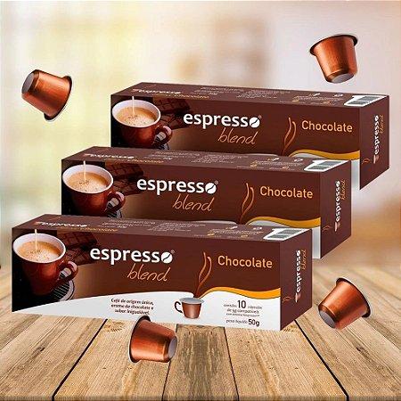 Kit 20 cxs c/10 cápsulas de café compatível  Nespresso sabor Chocolate