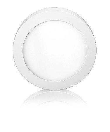 Luminária LED de Sobrepor Redonda 24W Branca Fria Bivolt - Elgin