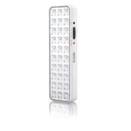 Luminária de Emergencia 30 LEDs Bateria Litio 2W - Elgin