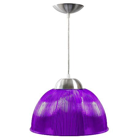 Luminária Prismática 12 Pol Pendente Lilás Luxo E-27 - Claron