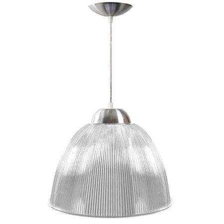 Luminária Prismática 16 Pol Pendente Cristal Luxo E-27 - Claron
