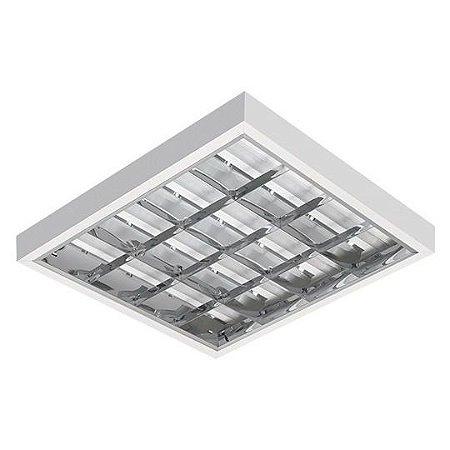 Luminária Comercial Aletada Alto Rendimento de Sobrepor para Lâmpada Led T8 4x 9W 10W
