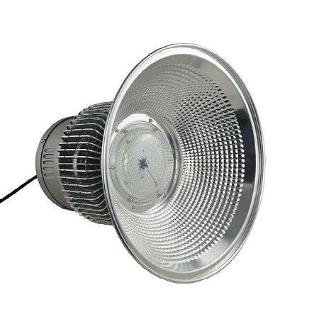 Luminária Industrial Led SMD Prismática Alumínio 100W