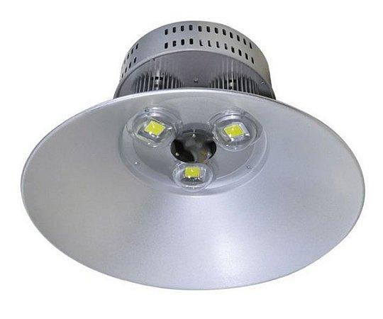 Luminária Industrial Led COB Prismática Alumínio 100W