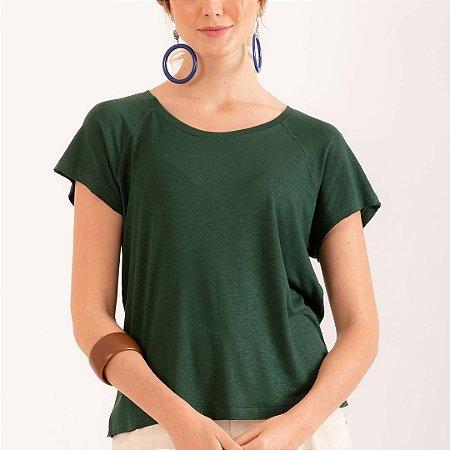 REF:. 7034  Blusa em malha tricot com linho