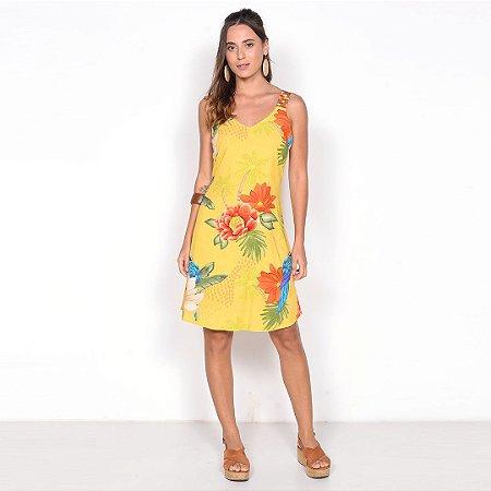 REF:. 6755 Vestido Curto Paraiso Amarelo