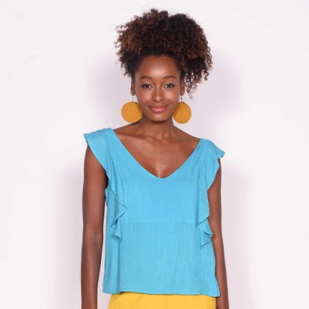 REF:. 7078 Blusa Azul