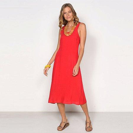 REF:. 7041  Vestido Midi Vermelho