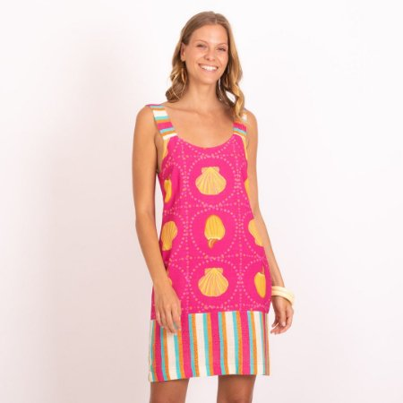 REF:. 7396  Vestido Curto Trindade Pink