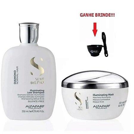 Shampoo 250ml e Máscara 200ml Alfaparf Semi Di Lino Diamond
