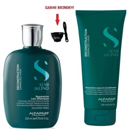 Kit Shampoo 250ml e Leave-In 200ml Reconstruction Alfaparf