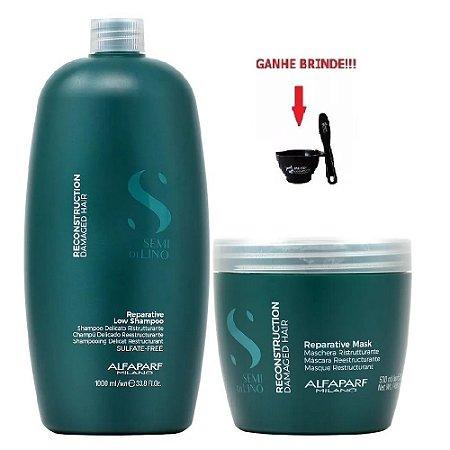 Kit Shampoo 1Litro e Máscara 500ml Reconstruction Alfaparf