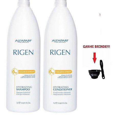 Rigen Kit Hydrating Shampoo E Condicionador 1L Alfaparf