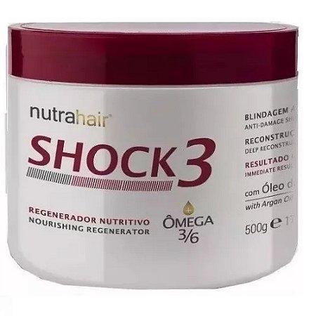 Nutra Hair Shock3 Regenerador Nutritivo Omega 500g