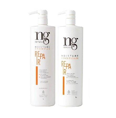Ng De France Condicionador 1000ml + Shampoo Repair 1000ml