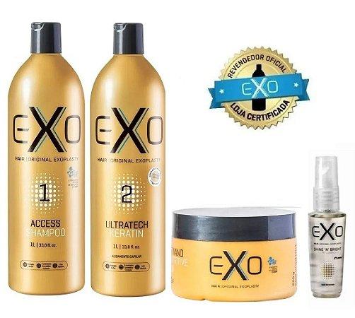 Exo Hair Kit Progressiva Exoplastia 1 Litro + Mask 250gr