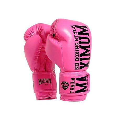 Luva de Boxe / Muay Thai Feminina 14oz Style - Rosa - Maximum