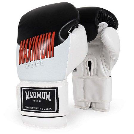 Luva de Boxe / Muay Thai 12oz Style - Branco - Maximum