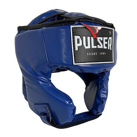 Capacete Proteção Cabeça Fechado Treino Pu - Azul - Pulser