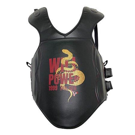 Colete Protetor Tórax Super Proteção - Preto com Dourado Snake - Pulser