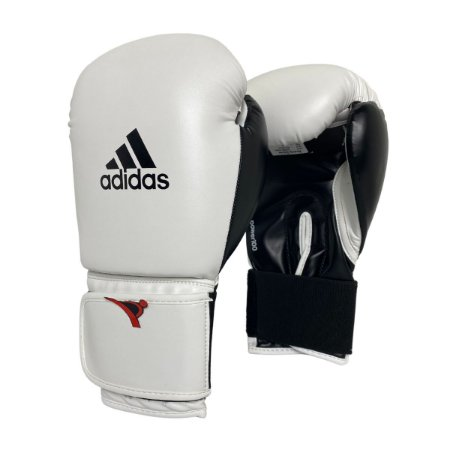 Luva de Boxe / Muay Thai 12oz Power 100 - Branco com Preto - Adidas