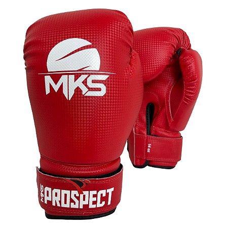 Luva de Boxe / Muay Thai 12oz Prospect - Vermelho - MKS