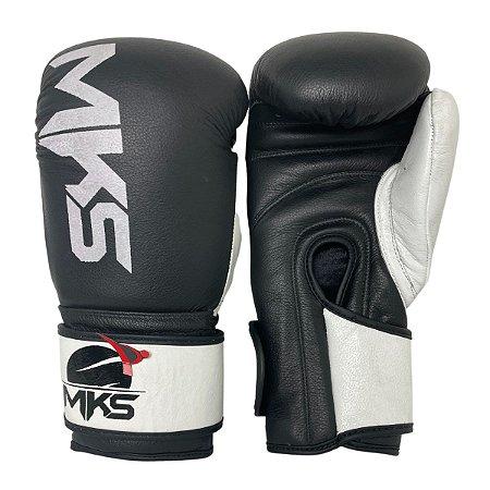 Luva de Boxe / Muay Thai 14oz Rustic Couro Legitimo - Preto - MKS
