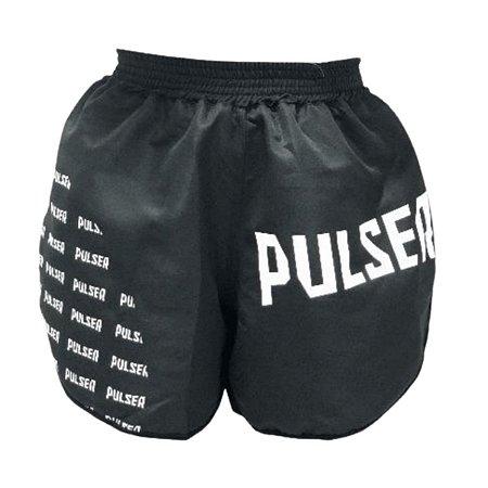 Short Muay Thai Treino Academia - Preto com Branco - Pulser
