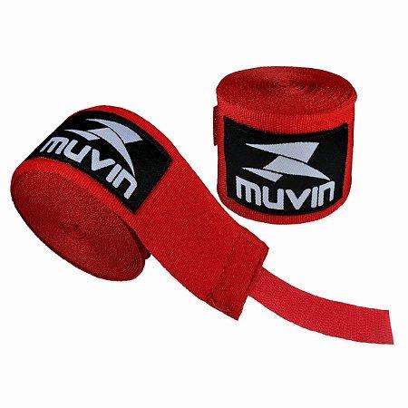 Par Bandagem Atadura Elástica 3mt - Vermelho - Muvin