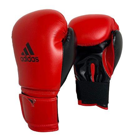 Luva de Boxe / Muay Thai 12oz Power 100 - Vermelho com Preto - Adidas
